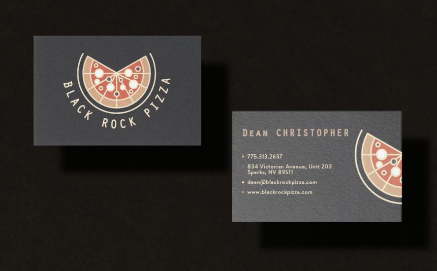 MG-New Website Black Rock Pizza Branding Business Cards